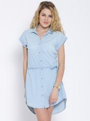 United Colors of Benetton Blue Denim Shirt Dress