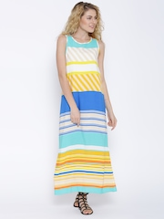 United Colors of Benetton Multicoloured Striped Maxi Dress