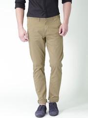 "Moda Rapdio Khaki Slim Fit Chino Trousers  With Mobile (upto 6.2"") Phone Pocket"