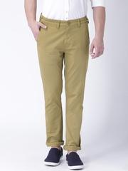 "Moda Rapido Khaki Slim Fit Trousers- Stretch fabric- Mobile (upto 6.2"") Phone Pocket"