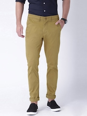"Moda Rapdio Khaki Slim Fit Trousers- Stretch fabric- Mobile (upto 6.2"") Phone Pocket"
