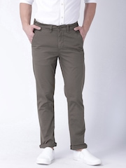 "Moda Rapido Taupe Slim Fit Trousers- Stretch fabric- Mobile (upto 6.2"") Phone Pocket"