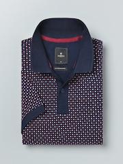 INVICTUS Navy Printed Polo T-shirt