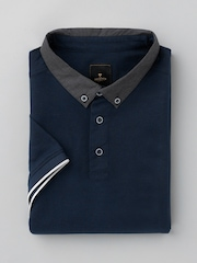 INVICTUS Navy Polo T-shirt