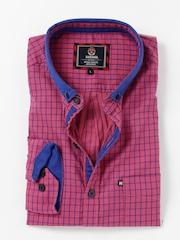 HARVARD Pink & Blue Checked Casual Shirt