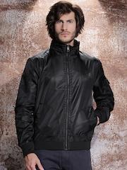 Harley-Davidson® Black Moto-Inspired Nylon Hooded Jacket
