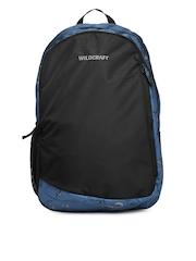 Wildcraft Unisex Black & Blue Printed Backpack