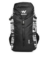 Wildcraft Unisex Black & Grey Printed Cliff 60 Rucksack
