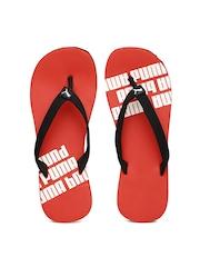 PUMA Men Black & Red Issac NG DP Flip-Flops