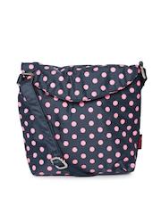 Honey by Pantaloons Navy Polka Dot Print Sling Bag