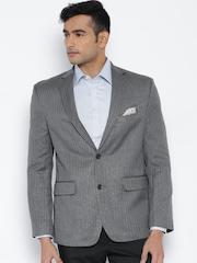 SUITLTD Grey Single-Breasted Blazer