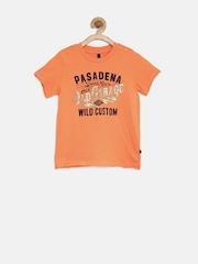 United Colors of Benetton Boys Orange Printed T-Shirt