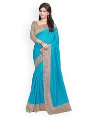 Mirchi Fashion Blue Art Silk Traditional Saree