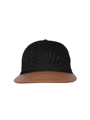 Being Human Men Black & Brown Cap