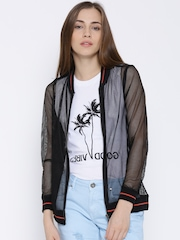 People Black Mesh Jacket
