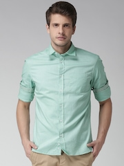 Celio Green Casual Shirt