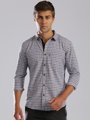 HRX by Hrithik Roshan Blue & Red Checked Casual Shirt