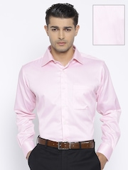 Raymond Pink & White Striped Contemporary Fit Formal Shirt