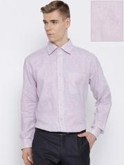 Raymond Lavender Self-Striped Linen Contemporary Formal Shirt