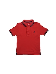 mothercare Boys Red Polo T-shirt