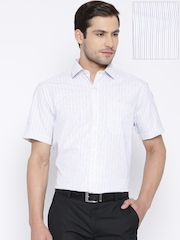 John Players White Pinstriped Formal Shirt