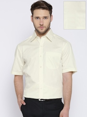 John Players Cream-Coloured Formal Shirt