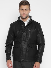 Raymond Black Leather Jacket