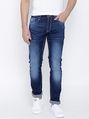 John Players Blue Washed Skinny Jeans