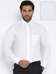 Raymond White Striped Contemporary Fit Formal Shirt