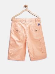 612 League Boys Peach-Coloured Cargo Shorts