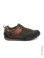 Timberland Men Brown Greley Aprch Leather Casual Shoes