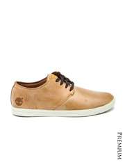 Timberland Men Tan Brown Leather Casual Shoes