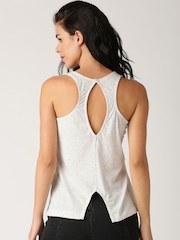 All About You from Deepika Padukone White Melange Tank Top