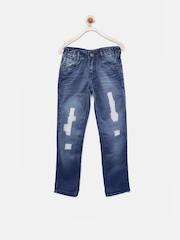 YK Boys Blue Distressed Jeans