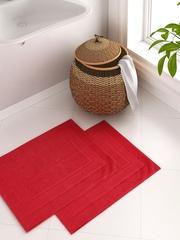 Portico New York Splendour Red Set of 2 Rectangular Bath Rugs