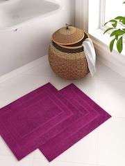 Portico New York Splendour Purple Set of 2 Rectangular Bath Rugs