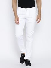 Killer White Low-Rise Super Slim Jeans