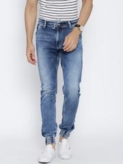 Killer Blue Washed Track Fit Jogg Jeans