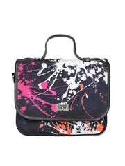 Satya Paul Black Printed Sling Bag with Sling Strap