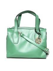 Satya Paul Green Leather Shoulder Bag with Sling Strap