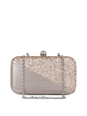 Berrypeckers Gold-Toned Shimmery Clutch