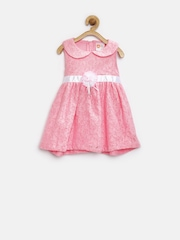 Baby League Girls Pink Lace Fit & Flare Dress