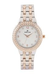Daniel Klein Premium Women Silver-Toned Stone-Studded Dial Watch DK10917-4