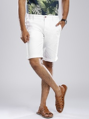 GAS White Noal Straight Fit Chino Shorts