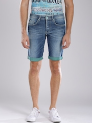 GAS Blue Denim Anders Shorts