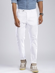 GAS White Noley Straight Fit Chino Trousers