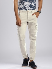 GAS Beige Bob Gym Skinny Fit Cargo Trousers