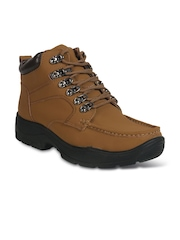 Action Men Brown Nubuck Leather Casual Shoes