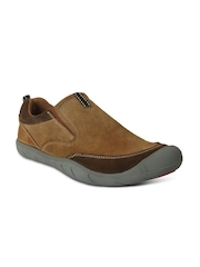 Action Men Brown Leather Casual Shoes