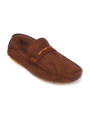 Action Men Coffee Brown Suede Loafers